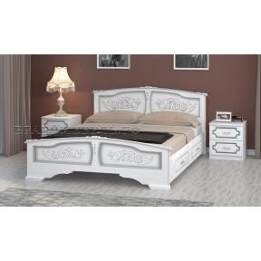 """Кровать """"Елена"""" белый жемчуг, с ящиками 140*200см"""